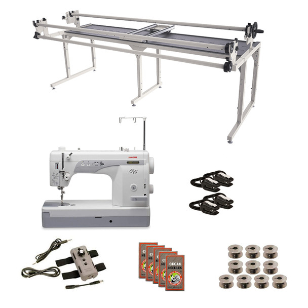 Janome 1600P-QC Grace 8' Continuum II with Speed Control Machine Quilting Combo 6