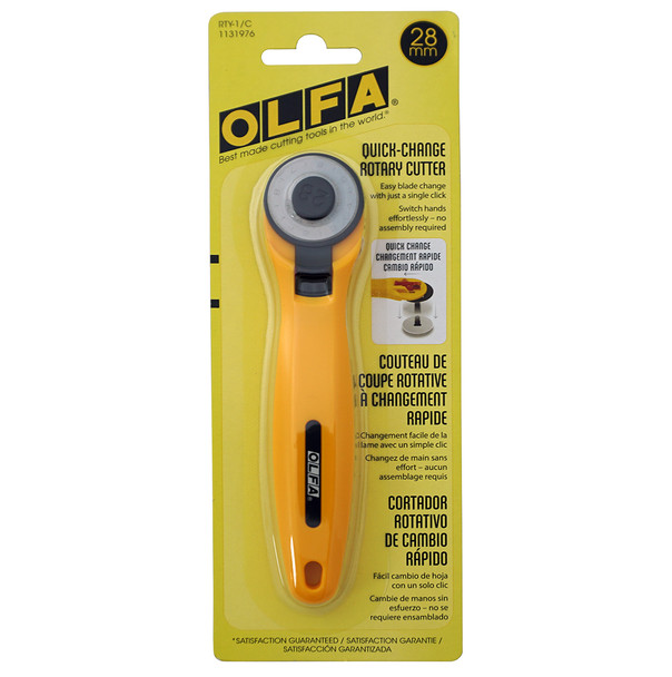 Olfa Quick Blade Change Rotary Cutter 28mm