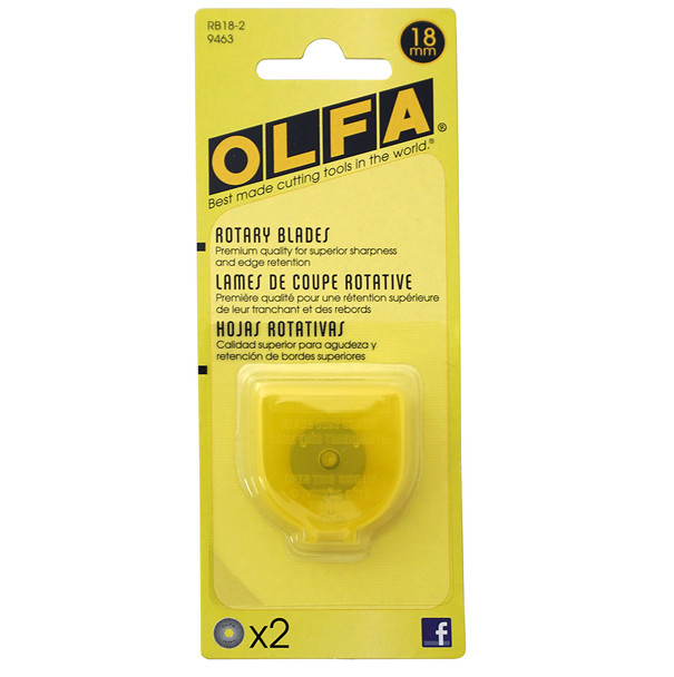 Olfa 18mm Rotary Blade - 2 Pack