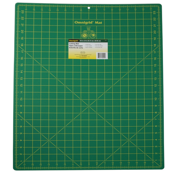 Omnigrid Cutting Mat - Green with Yellow Grid 18in x 24in