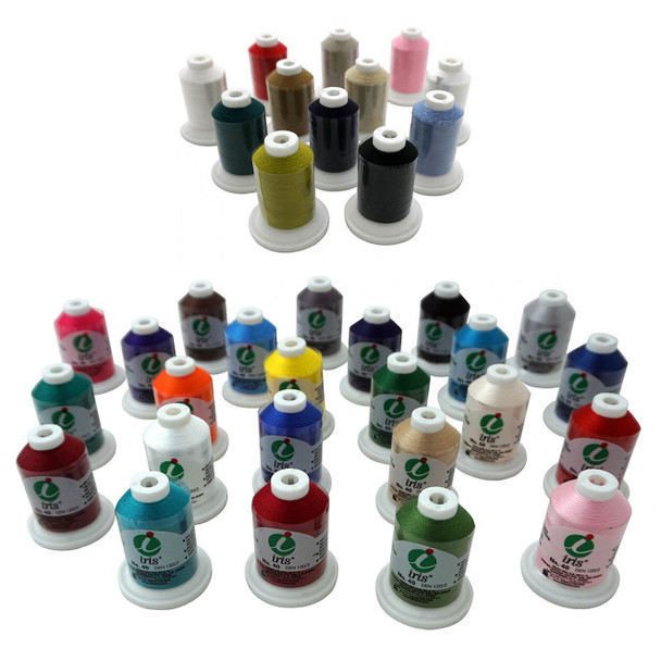 Janome Thread Set 12 Cotton Mini King and 24 Poly Mini King