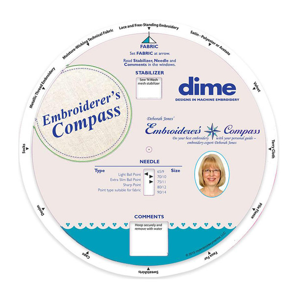 dime Embroiderer's Compass