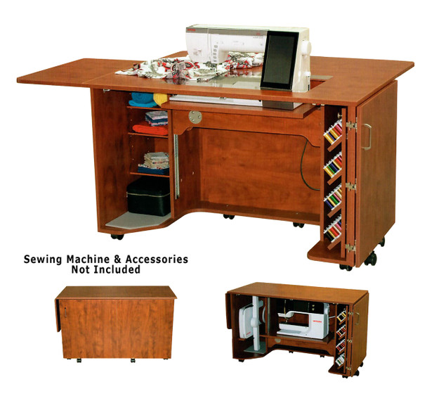 Horn 8050 Elecrtic Lift Sewing Quilting and Embroidery Cabinet