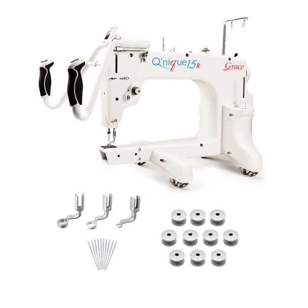 Grace Q'nique 15R Midarm Quilting Machine with Bonus Bundle