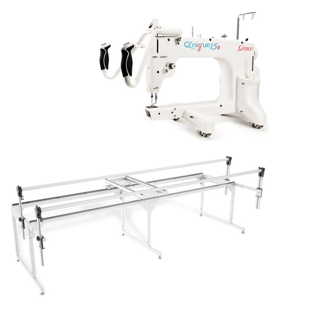 Grace Q'nique 15R Midarm Quilting Machine with Q-Zone Queen Frame