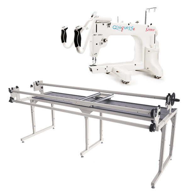 Grace Q'nique 15R Midarm Quilting Machine with Continuum 8' Quilting Frame