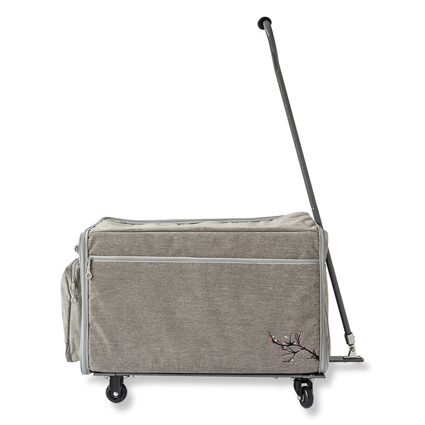 "BlueFig Wheeled Travel Bag 26"" in Blossom Grey"