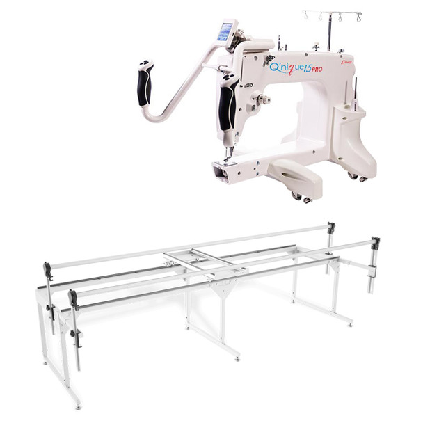 Grace Q'nique 15 Pro Midarm Quilting Machine with Q-Zone Queen Frame