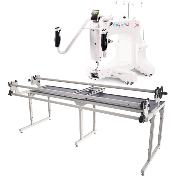 Grace Q'Nique 15M Quilting Machine with Continuum 8' Quilting Frame