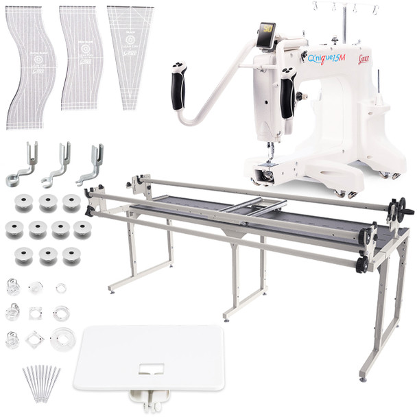 Grace Q'Nique 15M Quilting Machine with Continuum 8' Quilting Frame with Bonuspack