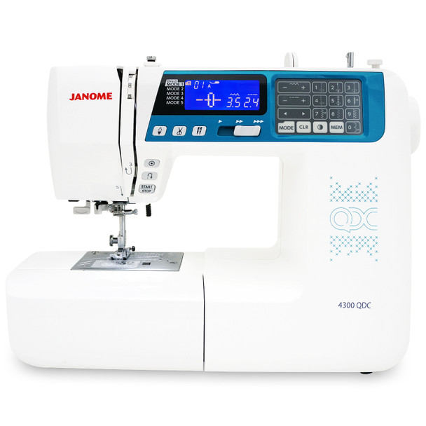 Janome 4300QDC-B Sewing and Quilting Machine with Bonus Quilt Kit!