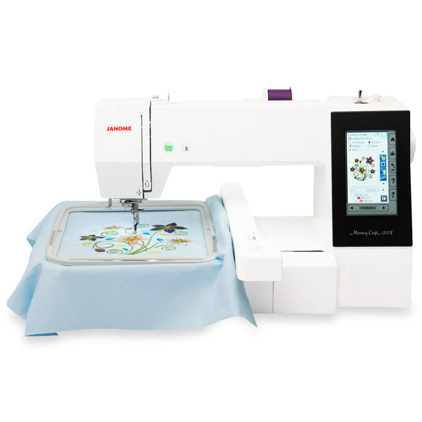 Janome Memory Craft 500E Embroidery Machine - Factory Refurbished