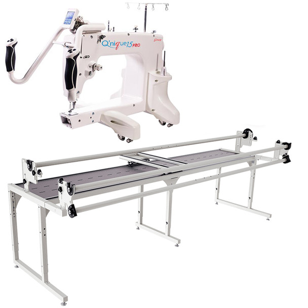 Grace Q'nique 15 Pro Midarm Quilting Machine with Continuum II 10' Quilting Frame