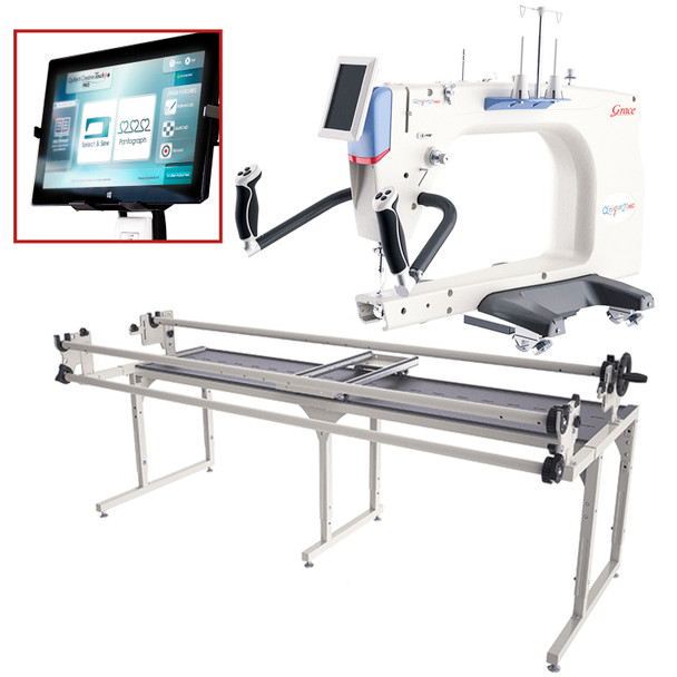 Grace Q'Nique 21 Pro Quilting Machine with Continuum 8' Frame and Quilt Motion QCT5
