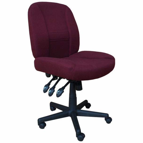 Horn of America 17090 Deluxe 6 Way Adjustable Chair in Burgundy with Black Base - 400 Lb Weight Limit