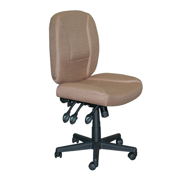 Horn of America 17090 Deluxe 6 Way Adjustable Chair in Tan with Black Base - 400 Lb Weight Limit