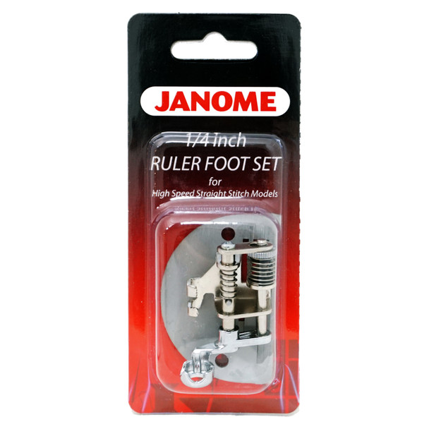 """Janome 1/4"""" Ruler Foot Set for High-speed Straight Stitch Models"""