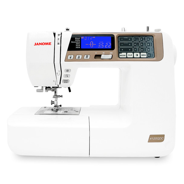 Janome 4120QDC-T Computerized Quilting and Sewing Machine with Bonus Quilt Kit