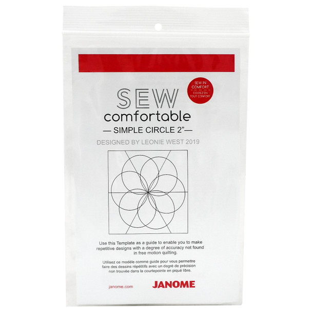 "Janome 2"" Simple Circle Quilt Ruler"