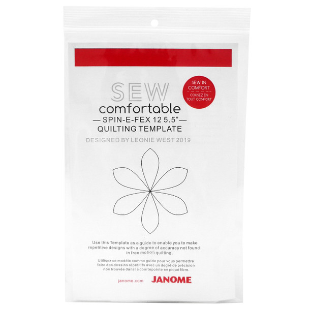 """Janome Spin-E Fex 12-5.5"""" Quilt Ruler"""