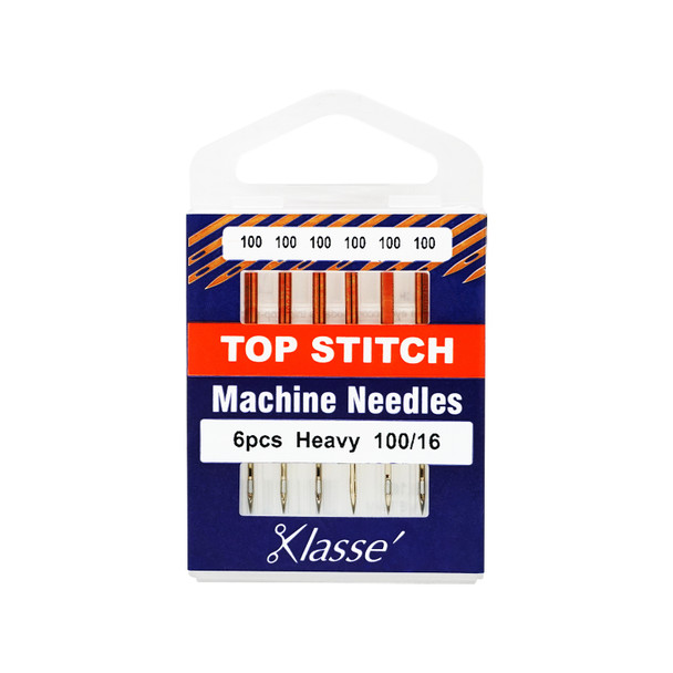 Klasse Topstitch Needle 100/16 Pack of 6 Needles