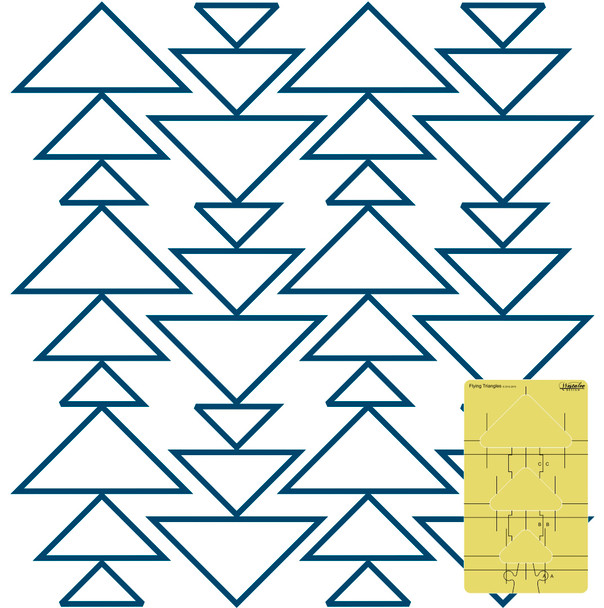 Westalee Design Flying Triangle Templates - 3-Piece Set