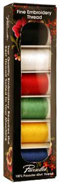 Brother SAEP706 Pacesetter 100% Polyester Embroidery Thread 6 Pack