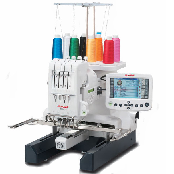 Janome MB-4S Four Needle Embroidery Machine - Quarter View