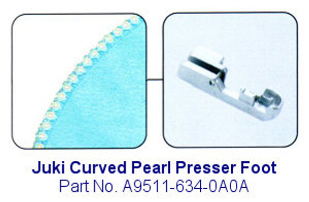 Juki Curved Pearl Serger Foot - Fits Most Juki MO-600, MO-700, MO-104D and MO-114D Sergers