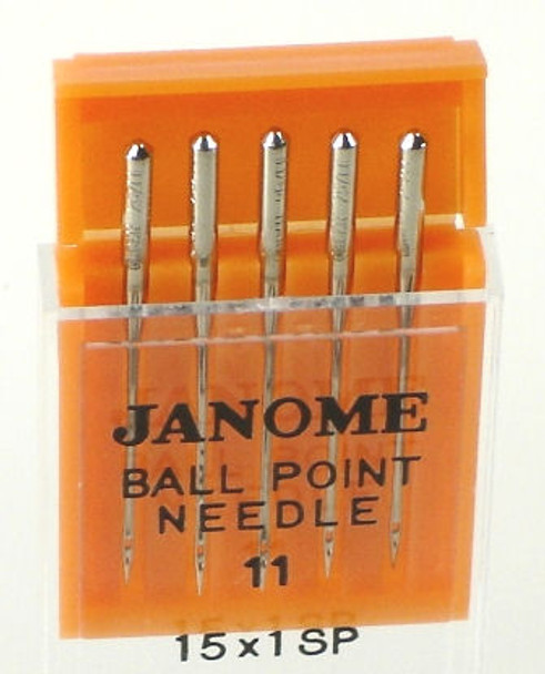 Janome Ball Point Needles (Size 11)