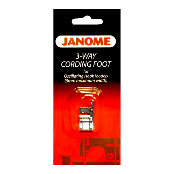 Janome Front-Load - Cording Foot 3 Way