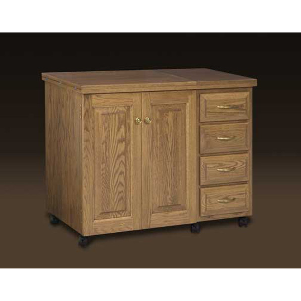 Schrocks of Walnut Creek Sewing Machine Cabinet in Real Oak Wood and Your Choice of Stain