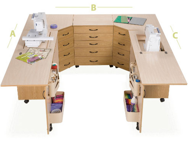 Sylvia Design U2810 Combination Sewing Cabinet