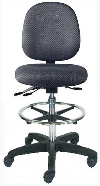 Sew-Ergo Advantage Premium Quilters Stool With Adjustable Foot Ring Model CLS57