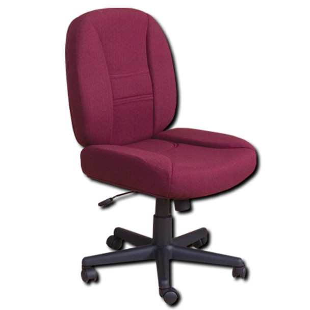 Horn Of America Sewing Chair 14090 Burgundy Upholstery With Black