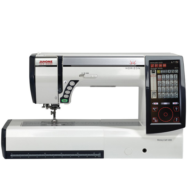 Janome Horizon Memory Craft 12000 Embroidery and Sewing Machine - Front View