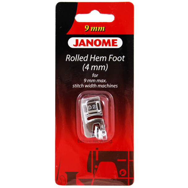 Janome 4mm Hemmer Foot for 9mm Machines