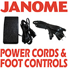 Janome Power Cords & Foot Controls