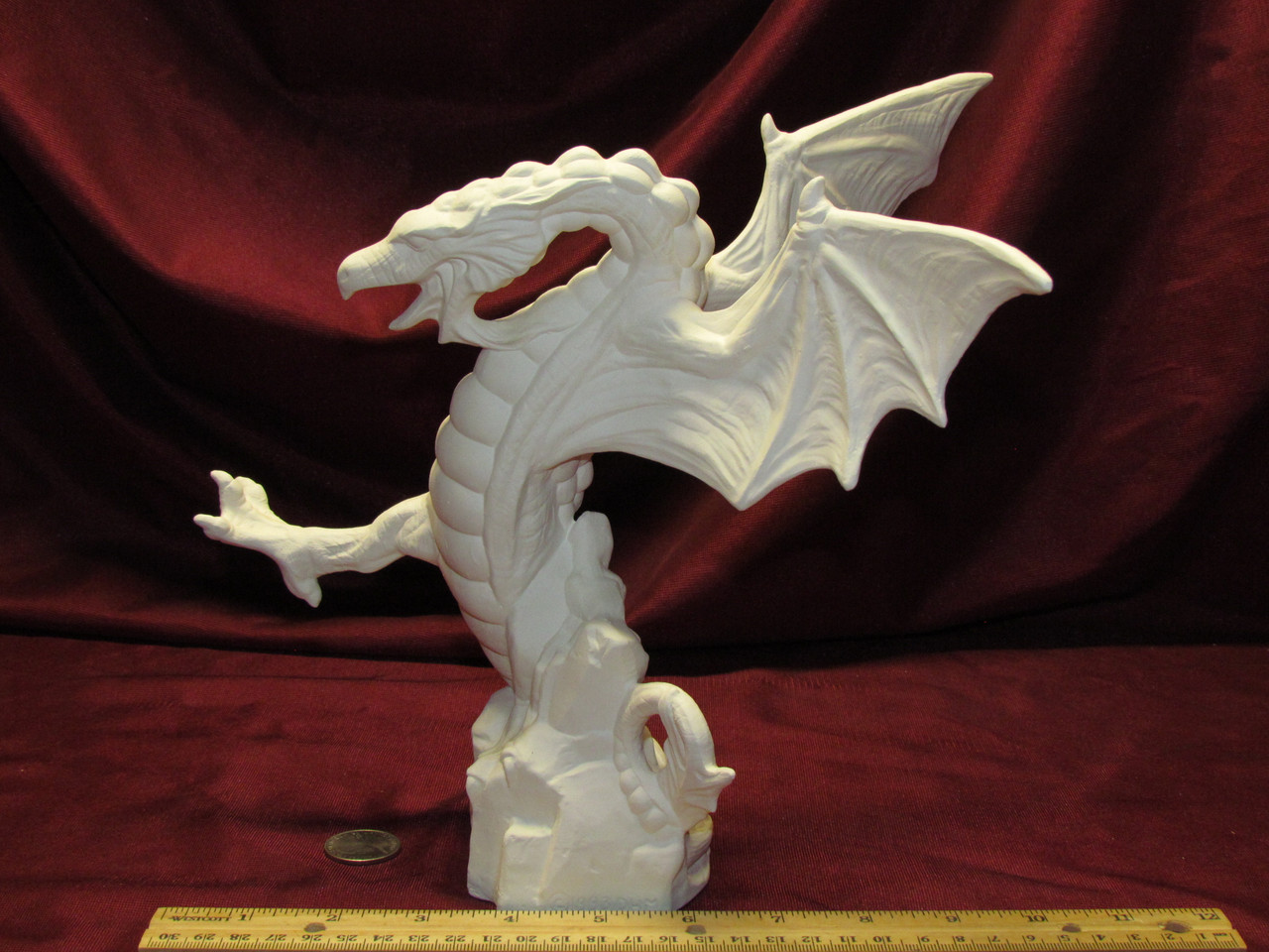 Ceramic Bisque Dueling Dragon Crouching Ready to Paint U-Paint Unpainted DIY Fantasy Doc Holliday Fighting Battle