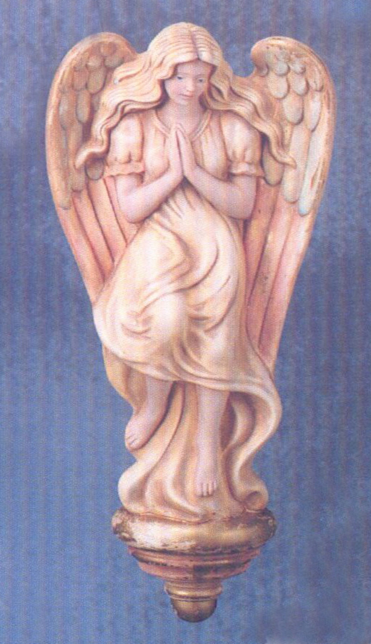 Ceramic Bisque Praying Angel Wall Plaque Wall Hanging Unpainted Ready To Paint Fat Cat Ceramics