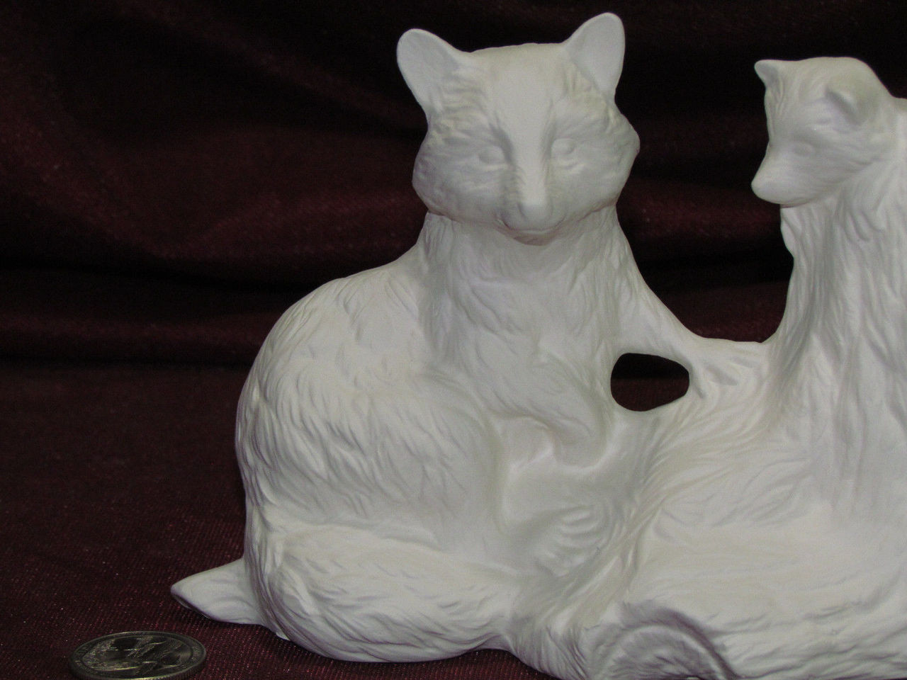 Ceramic Bisque U-Paint Bear Family On A Log Base Unpainted Ready To Paint DIY Wildlife Vintage
