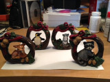 Ornaments painted and finished by a valued customer