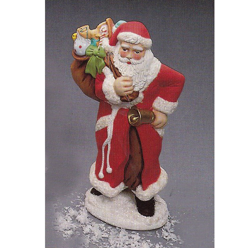 Ceramic Bisque U-Paint Atlantic Santa Claus with Toy Bag and Bell Ready to Paint