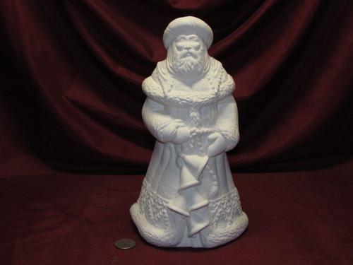 Ceramic Bisque U-Paint Ukrainian Santa Claus Old World Christmas Unpainted unpainted ready to paint diy