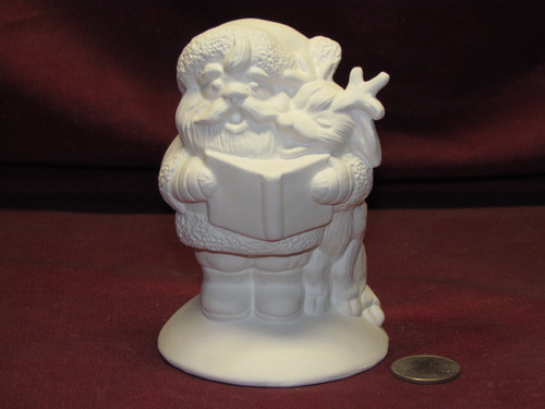 Ceramic Bisque U-Paint Small Santa Claus with Reindeer Christmas Winter Ready to Paint Unpainted DIY