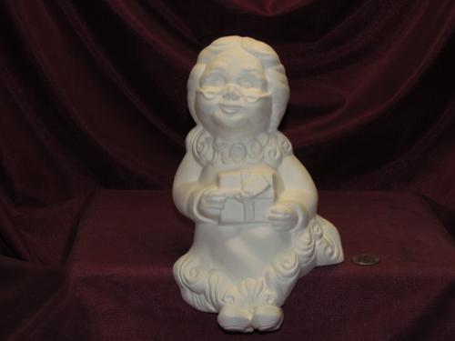 Ceramic Bisque U Paint Mrs Santa Claus Shelf Sitter ~ Ready to Paint Unpainted U-Paint DIY Christmas