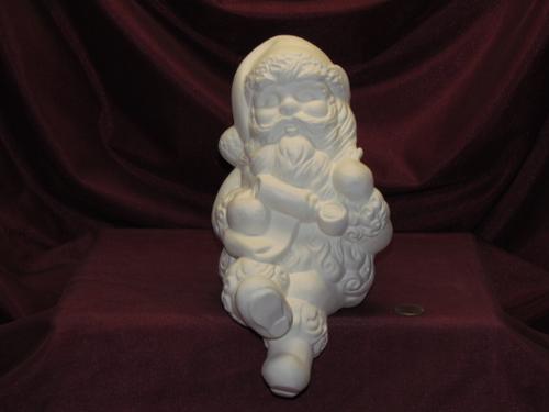 Ceramic Bisque U Paint Mr Santa Claus Shelf Sitter ~ Ready to Paint Unpainted U-Paint DIY Christmas