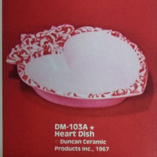 Ceramic Bisque U-Paint Valentine's Heart Dish Unpainted Ready To Paint