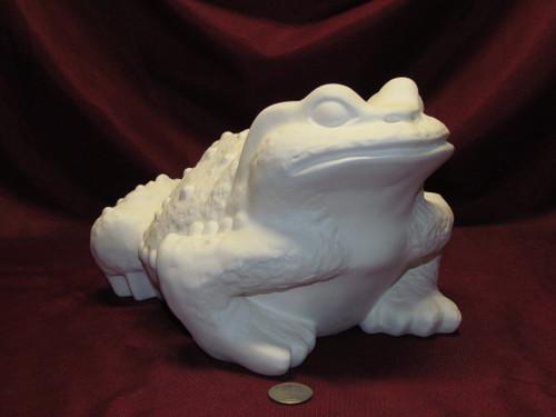 Ceramic Bisque U-Paint Arnel's Medium Frog ~ Toad Ready to Paint Wildlife Garden