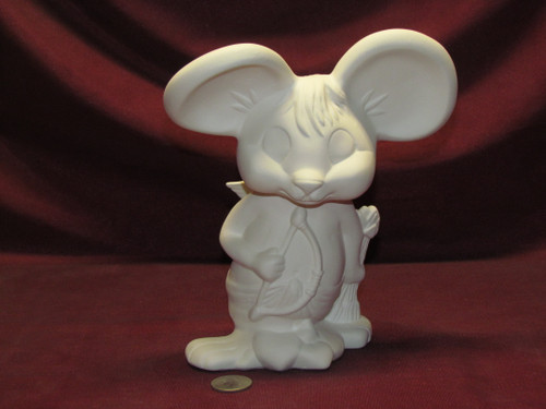 Ceramic Bisque U-Paint Cupid Mouse Valentines Day Ready to Paint Unpainted DIY